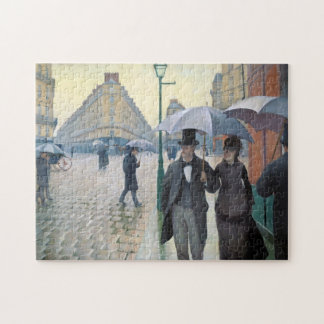 Wonderfully realistic painting Rainy day in Paris Puzzle