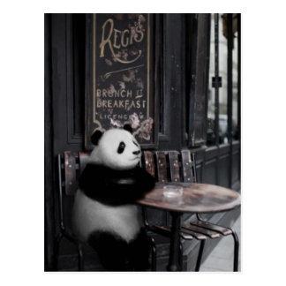 Wondering at a cafe postcard