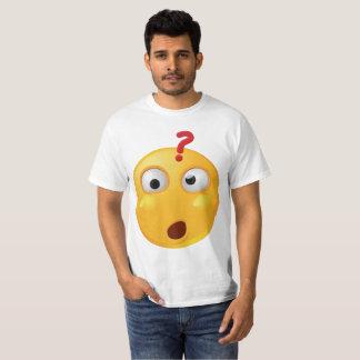 Wondering emoji on white tshirt