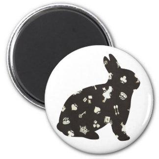 Wonderland 1 Rabbit Magnet