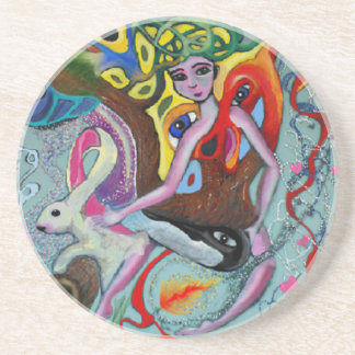 Wonderland Adventures Beverage Coaster