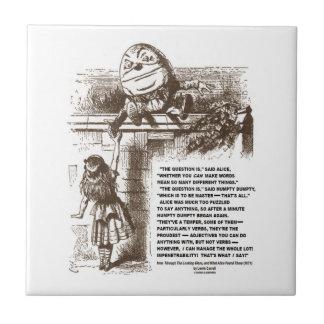 Wonderland Alice Humpty Dumpty Conversation Quote Tile