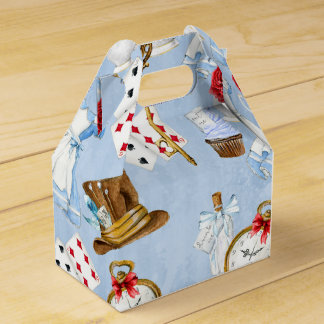 Wonderland Alice Pattern Favor Box