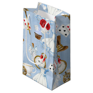 Wonderland Alice Pattern Small Gift Bag