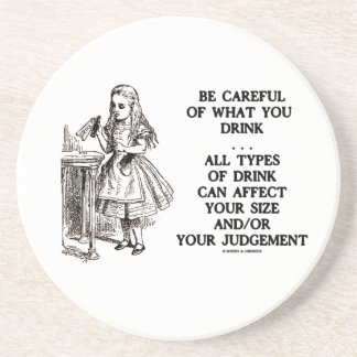 Wonderland Be Careful Of What You Drink (Alice) Coaster