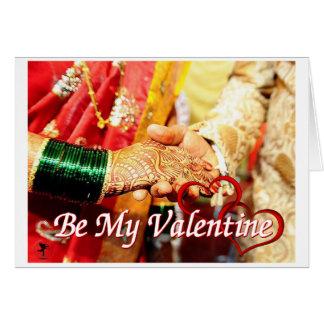 Wonderland Be My Valentine Card (Asain Couple)