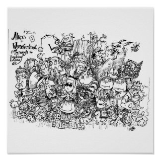 Wonderland Characters Poster