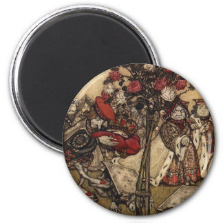 Wonderland Roses 2 Inch Round Magnet