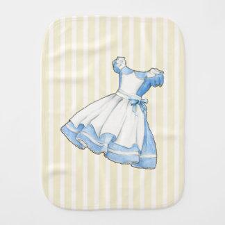 Wonderland Story Book Alice Dress Burp Cloth