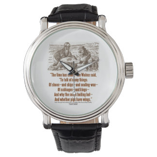 Wonderland Time Has Come Through Looking Glass Wristwatches
