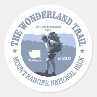 Wonderland Trail (rd) Classic Round Sticker