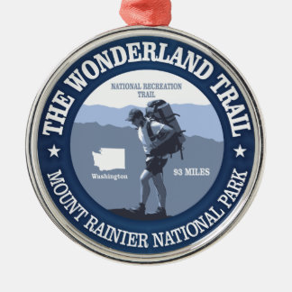 Wonderland Trail (rd) Silver-Colored Round Ornament