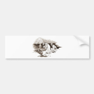 Wonderland Vintage Illustration Bumper Sticker