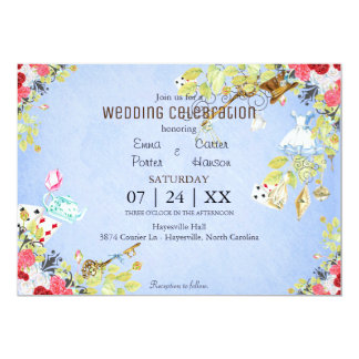 Wonderland Watercolor Spring Wedding Invitation