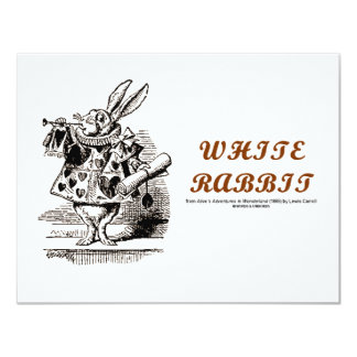 Wonderland White Rabbit Card