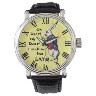 Wonderland White Rabbit Wrist Watches