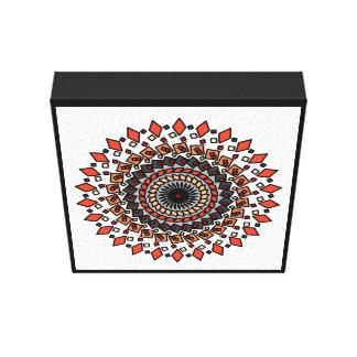 WonderlandDesigns Orange Tan Geometric Star Canvas