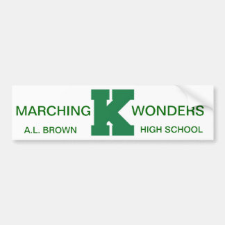 Wonders Marching Band Pride Bumper Sticker