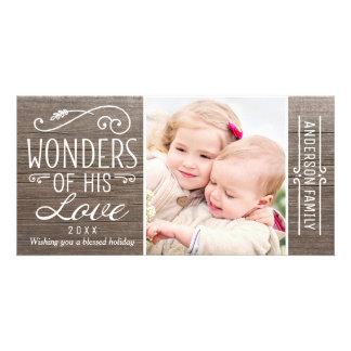 Wonders of His Love   Christmas Photo Card