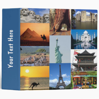 Wonders of the World Vacation Binder