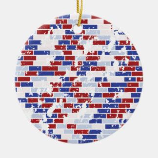 Wonderwall Round Ceramic Ornament