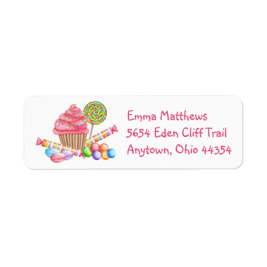 Wonerland Sweets Return Address Labels