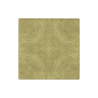 Wood abstract pattern stone magnet