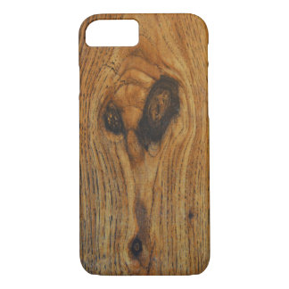 Wood Alien Face iPhone 7 Case