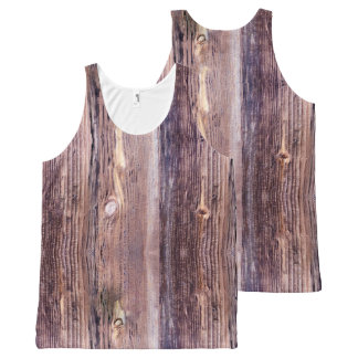 Wood All-Over-Print Tank Top