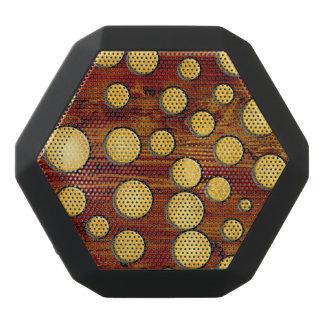Wood and gold black bluetooth speaker