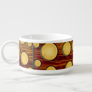 Wood and gold bowl