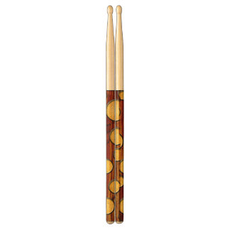 Wood and gold drum sticks