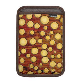 Wood and gold iPad mini sleeve
