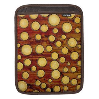 Wood and gold iPad sleeve