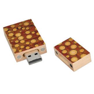 Wood and gold wood USB 2.0 flash drive
