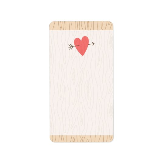 Wood and heart with arrow cute blank