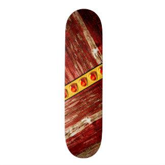 Wood and jewels custom skate board