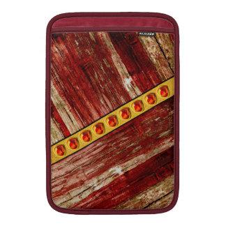 Wood and jewels MacBook sleeve