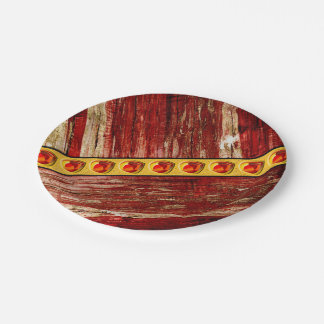 Wood and jewels paper plate