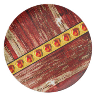 Wood and jewels plate