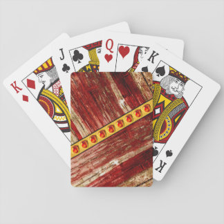 Wood and jewels playing cards