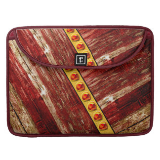 Wood and jewels sleeve for MacBook pro