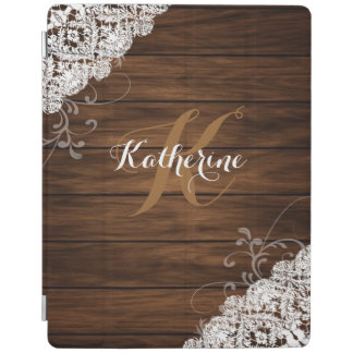 Wood and lace ipad cover