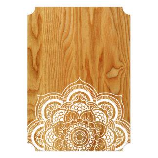 Wood and Mandala Card
