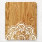 Wood and Mandala Mouse Pad