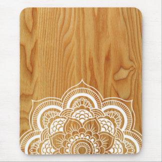 Wood and Mandala Mouse Pad