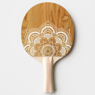 Wood and Mandala Ping Pong Paddle