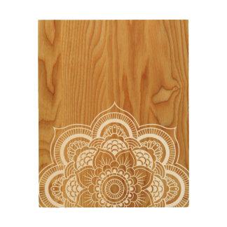 Wood and Mandala Wood Wall Art