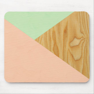 Wood and Pastel Abstract Mouse Pad