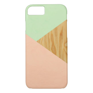 Wood and Pastel Abstract pattern iPhone 8/7 Case